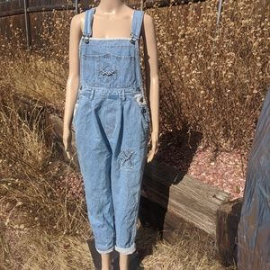 Vintage 80s Denim Overalls M Women